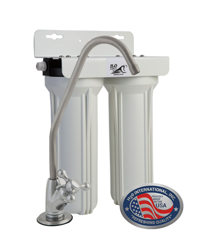 "Double 10""  Replaceable Cartridge Undersink Purifier with Sediment Filter"