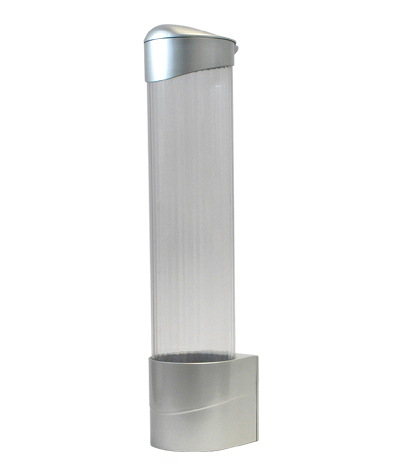 Premier Clear Cup Dispenser Silver