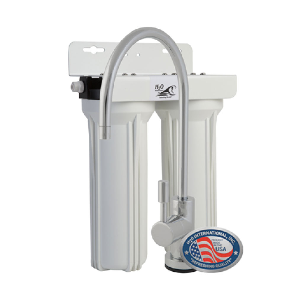 RUSD CHLORA+ Replaceable Cartridge Undersink Purifier with Sediment Filter