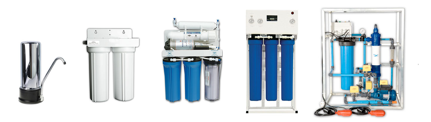 Image of a range of H2O Water Filters
