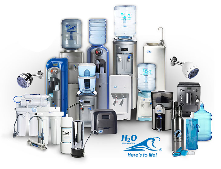 An image of a range of H2O International SA products