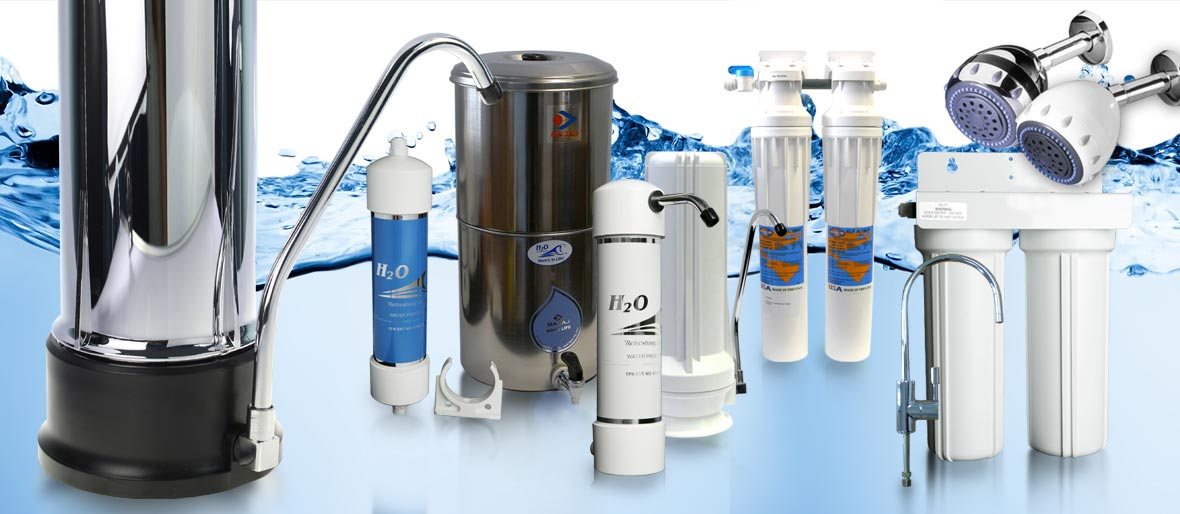 Range of H2O Water Filters