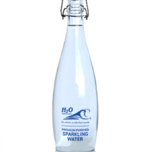 Glass Swingtop Bottle with H2O Branding – 1 litre – Sparkling
